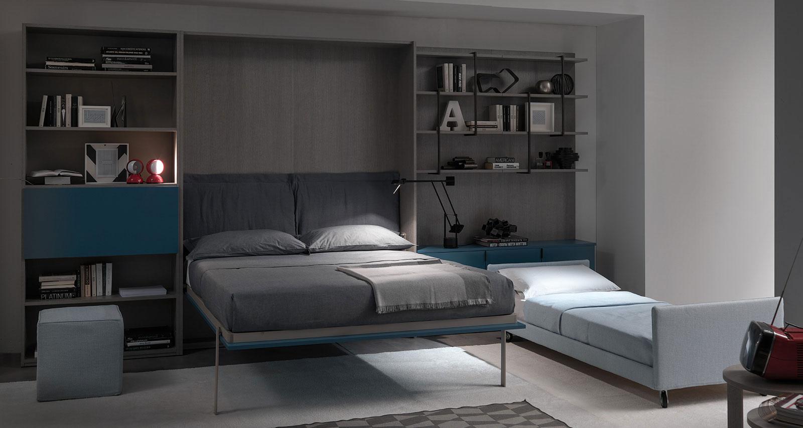 Sistema letto trasformabile vertigo sofa.